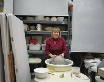 Susan Card At Her Wheel In DISH GALLERY + Studio