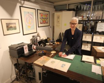 Japanese Blockprint Artist Barbara Wybou