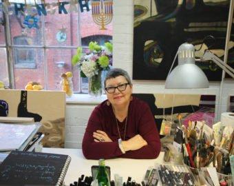 Artist Bianka Guna In Her Studio