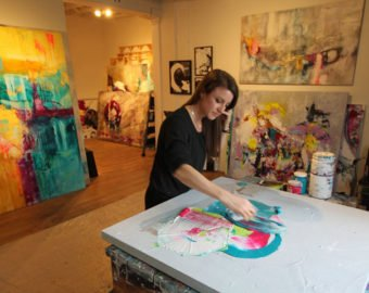 Sarah Phelps, Painter, At Work
