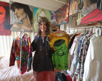 Nick Hadzis, Painter, Shows Off His Hand-painted Shirts
